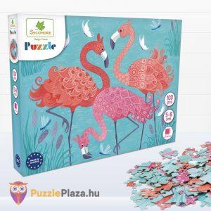 100 darabos Sycomore Flamingós puzzle