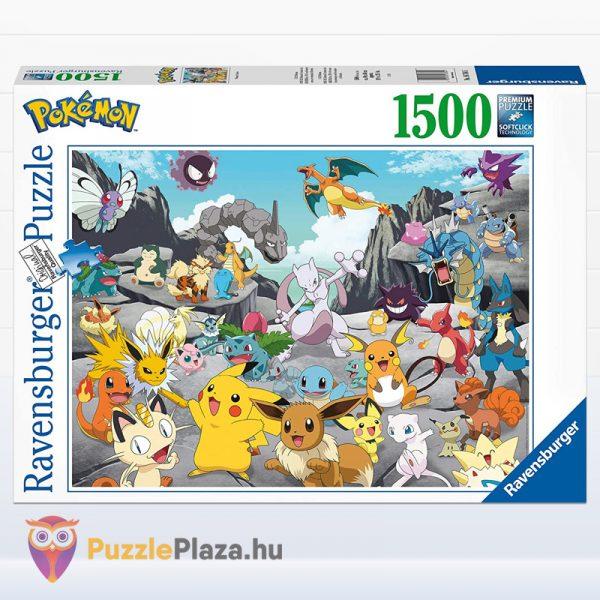 1000 darabos Pokémon klasszikusok puzzle (Ravensburger 16784) doboza előről