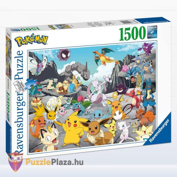 1000 darabos Pokémon klasszikusok puzzle (Ravensburger 16784) doboza jobbról