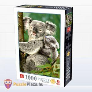 1000 darabos Deico Allatok (76816) - Koala a kicsinyével