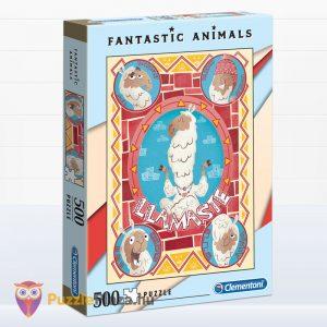 500 darabos lámás puzzle - Clementoni Fantastic Animals 35069