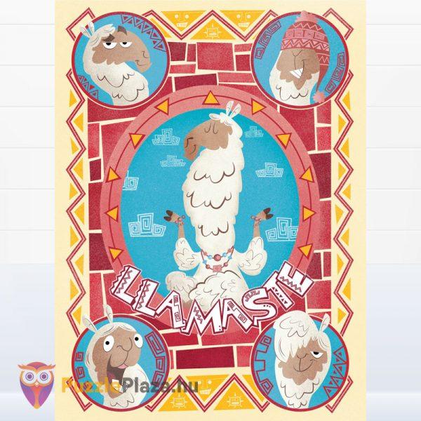 500 darabos lámás puzzle - Clementoni Fantastic Animals 35069 kirakott képe