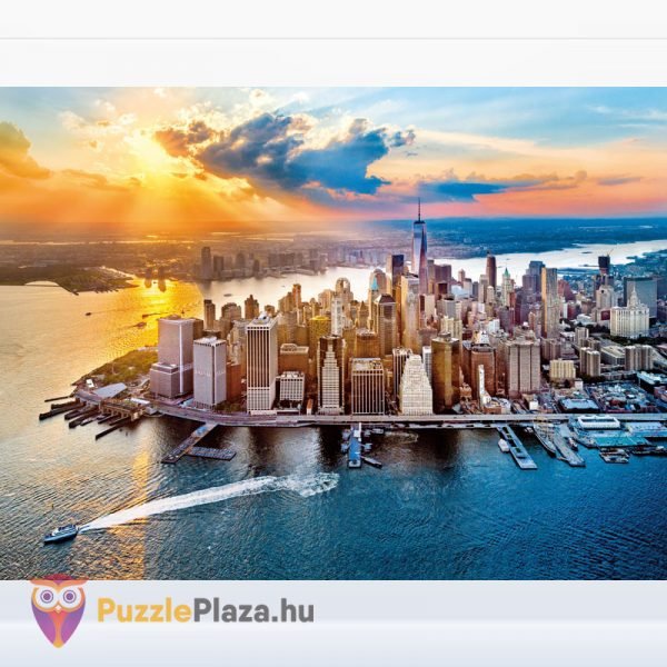 500 darabos New York, Manhattan Puzzle kirakott képe. Clementoni 35038