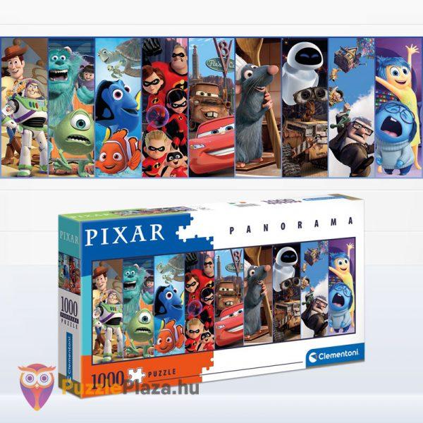 1000 darabos Disney Pixar panoráma puzzle kirakott képe - Clementoni 39610