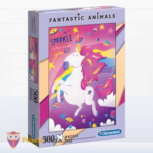 500 darabos unikornis puzzle - Clementoni Fantastic Animals 35066