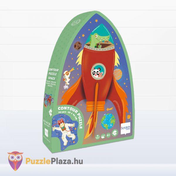 60 darabos űrhajó forma puzzle doboza - Scratch Europe