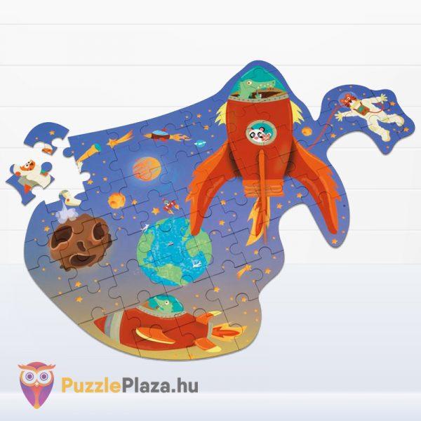 60 darabos űrhajó forma puzzle kirakva - Scratch Europe