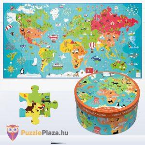 100 darabos világtérkép puzzle. Scratch Europe Puzzle