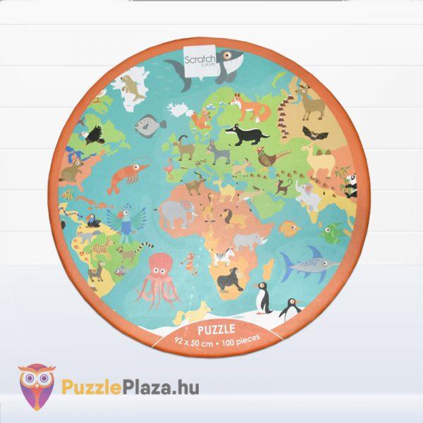 100 darabos Scratch Europe - A Világ Állatai XXL doboz előről