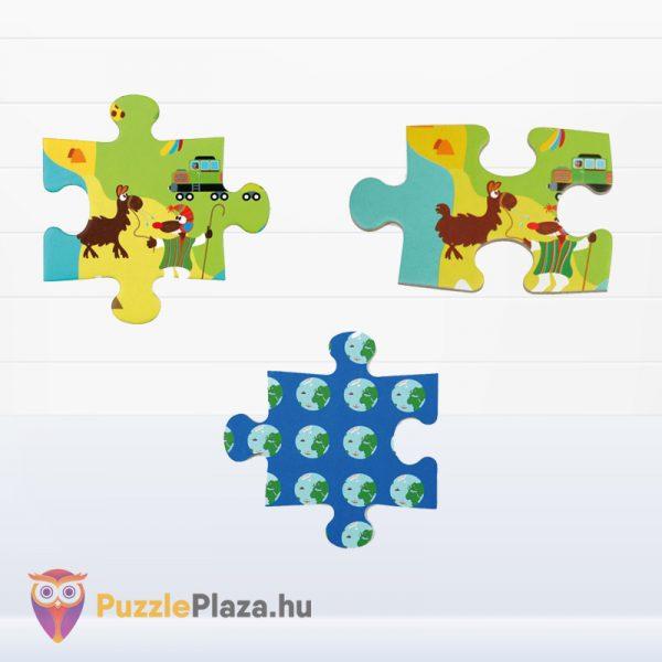 100 darabos világtérkép puzzle darabkái. Scratch Europe Puzzle