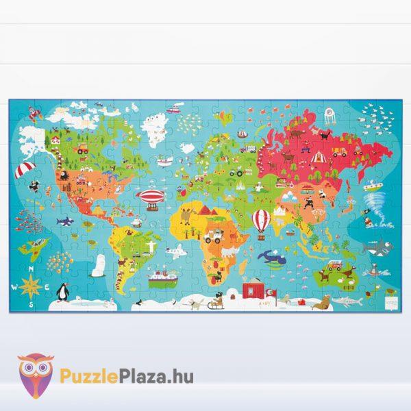 100 darabos világtérkép puzzle kirakott képe. Scratch Europe Puzzle