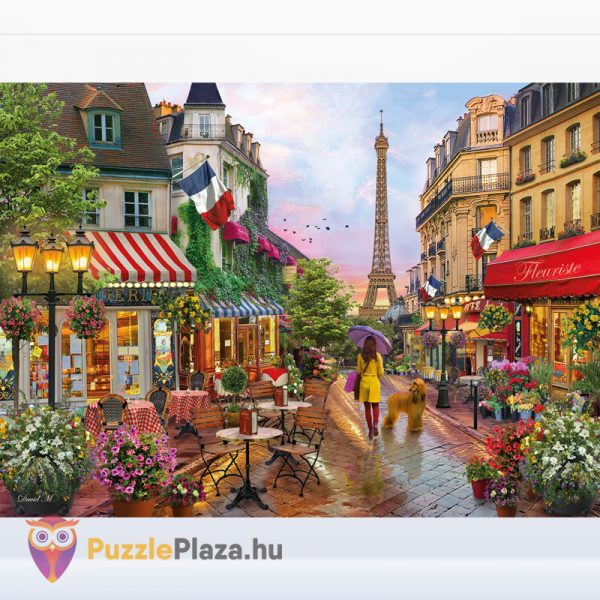 1000 darabos virágba borult Párizs puzzle. Clementoni 39482 kirakott képe