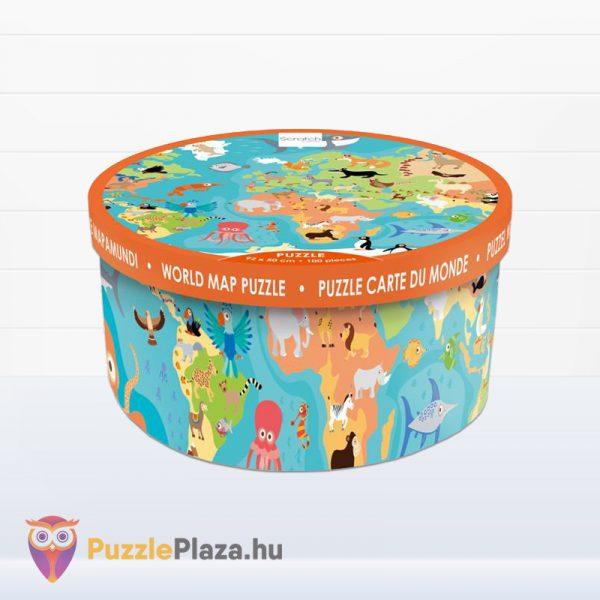 100 darabos Scratch Europe - A Világ Állatai XXL Puzzle doboza