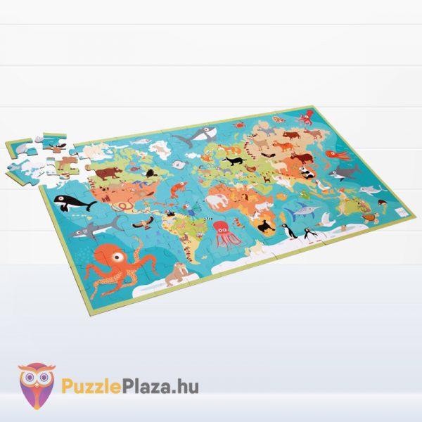100 darabos Scratch Europe - A Világ Állatai XXL Puzzle kirakás közben