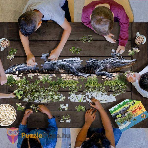100 darabos aligátor forma puzzle kirakózás közben - Wow Toys