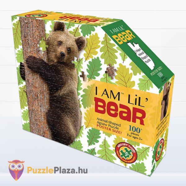 100 darabos barna medve forma puzzle doboza - Wow Toys