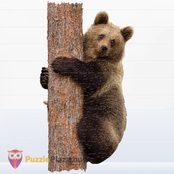 100 darabos barna medve forma puzzle kirakott képe - Wow Toys