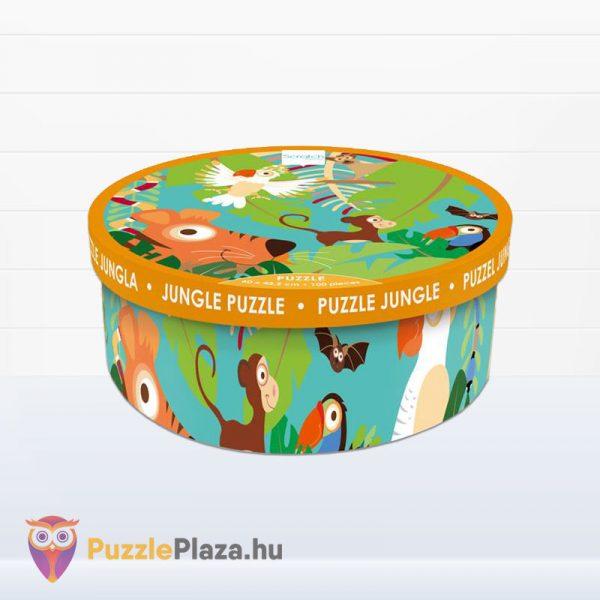 100 darabos Scratch Europe márkájú dzsungel puzzle doboza