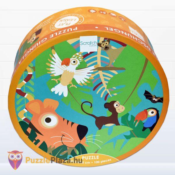 100 darabos Scratch Europe márkájú dzsungel puzzle doboza előről