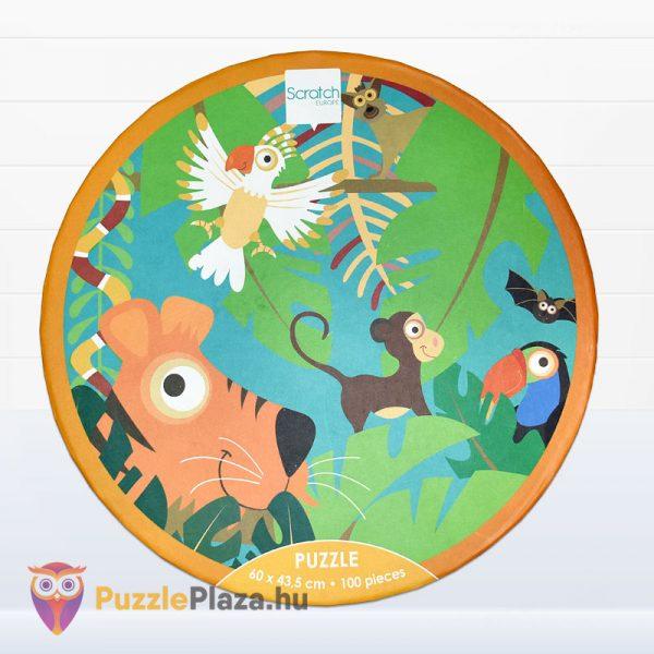 100 darabos Scratch Europe márkájú dzsungel puzzle doboza felülről 2