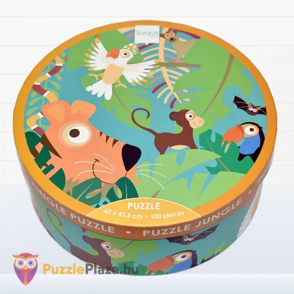 100 darabos Scratch Europe márkájú dzsungel puzzle doboza felülről