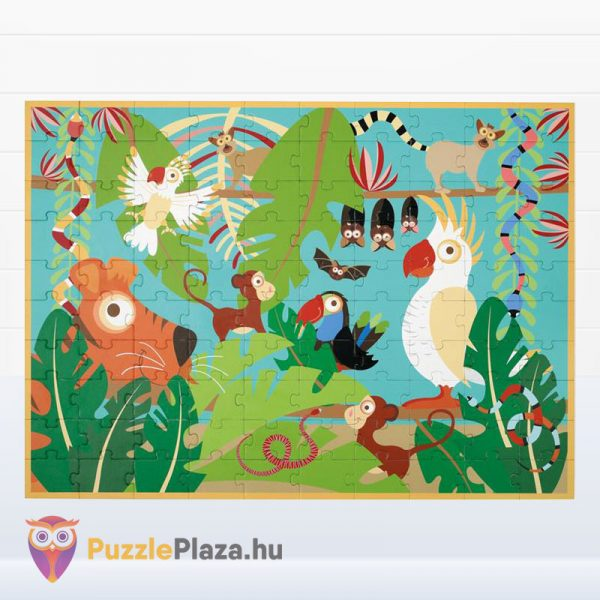 100 darabos Scratch Europe márkájú dzsungel puzzle képe
