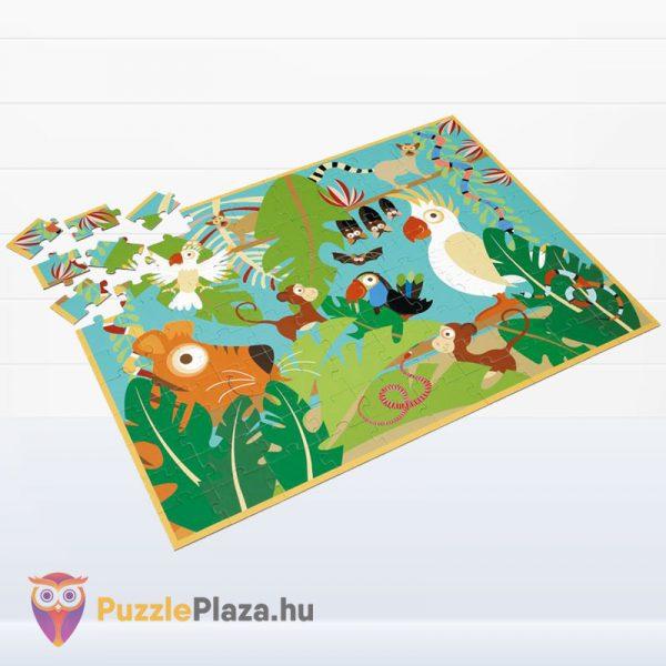 100 darabos Scratch Europe márkájú dzsungel puzzle kirakott képe
