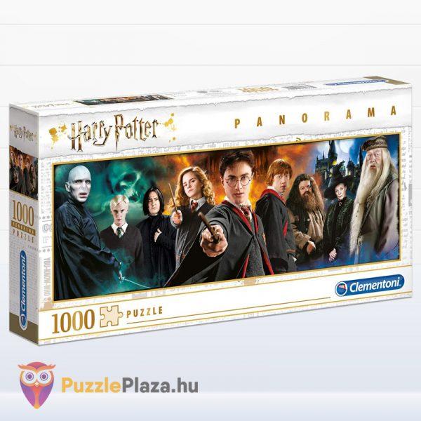 1000 darabos Harry Potter panoráma puzzle / kirakó - Clementoni Panorama Collection 61883