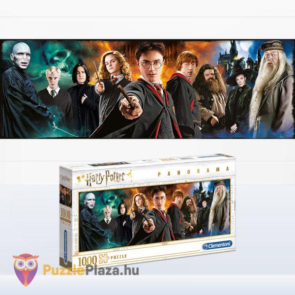 1000 darabos Harry Potter panoráma puzzle kirako képe és doboza - Clementoni Panorama Collection 61883