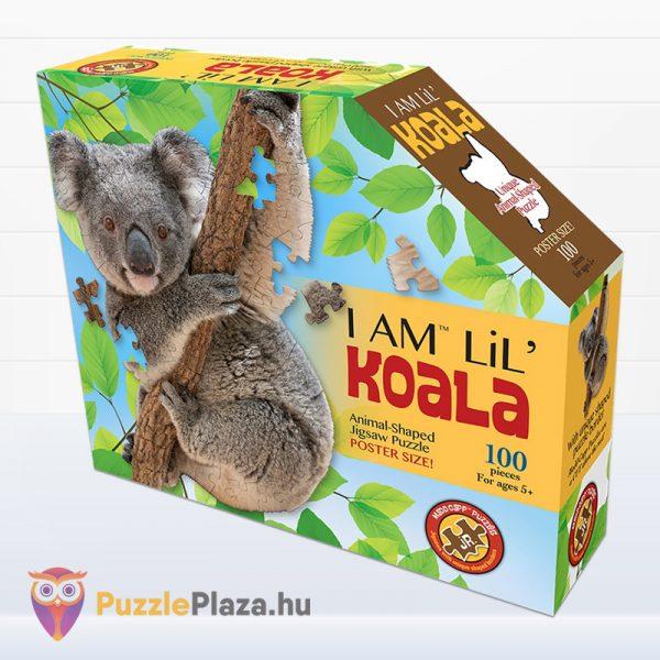 100 darabos koala forma puzzle doboza előről