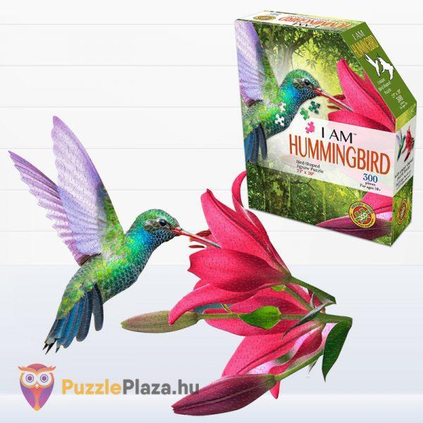 300 darabos kolibri forma puzzle doboza és kirakott képe - Wow Toys