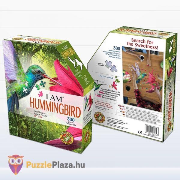 300 darabos kolibri forma puzzle dobozának eleje és hátulja - Wow Toys