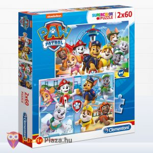 2 x 60 darabos Mancs Őrjárat puzzle doboza. Clementoni Supercolor 21617