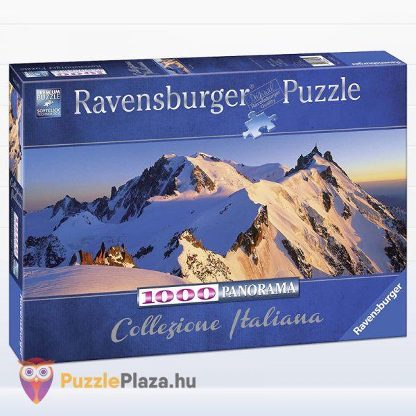 1000 darabos Mont Blanc panoráma puzzle - Ravensburger 15080 Collezion Italiana
