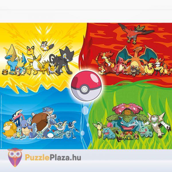 150 darabos Pokemon XXL puzzle (kirakó) kirakott képe - Ravensburger 10035