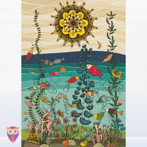 1000 darabos Deico (75451) Természet - Halak puzzle kirakott képe