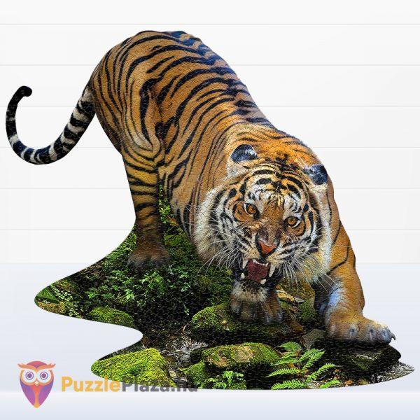 1000 darabos poszter méretű tigris forma puzzle kirakott képe - Wow Toys