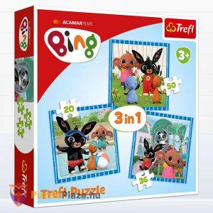 3 az 1-ben Bing nyuszi és barátai puzzle. Trefl 34851