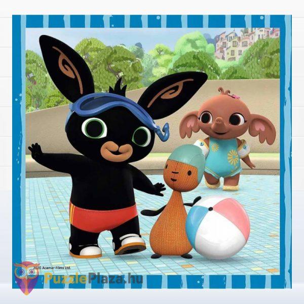 3 az 1-ben Bing nyuszi és barátai puzzle kirakott képe 1. Trefl 34851