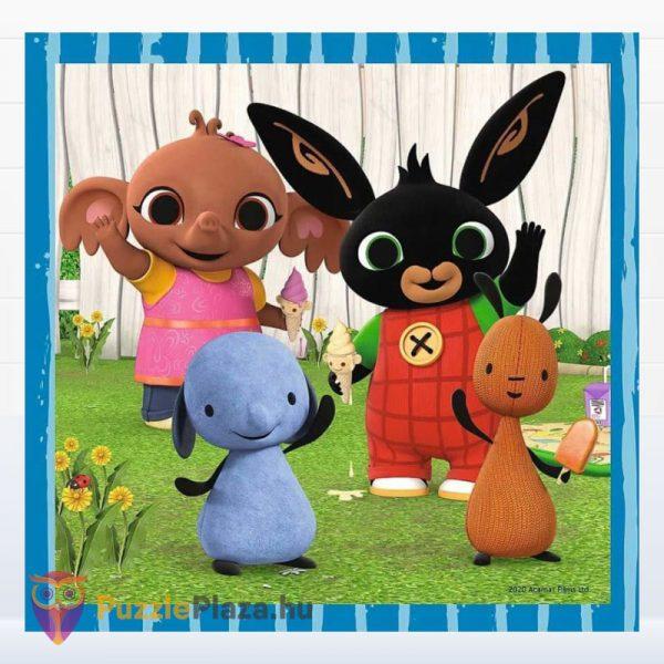 3 az 1-ben Bing nyuszi és barátai puzzle kirakott képe 2. Trefl 34851