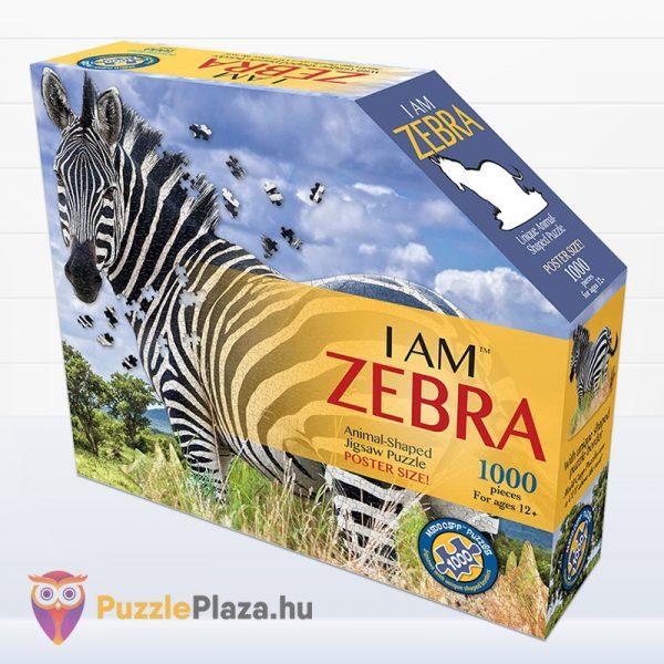 Poszer méretű 1000 darabos zebra forma puzzle dobozának eleje - Wow Toys