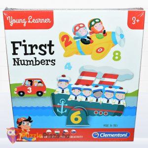 Első számaim óvodás oktatójáték doboza előről - Clementoni First Numbers