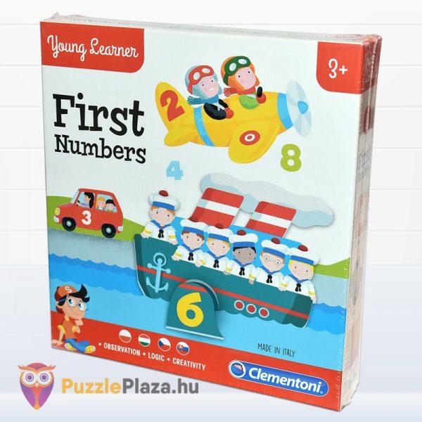 Első számaim óvodás oktatójáték doboza jobbról - Clementoni First Numbers