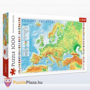 1000 darabos domborzati európai térkép puzzle - Trefl 10605