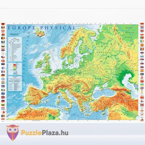 1000 darabos domborzati európai térkép puzzle kirakott képe - Trefl 10605