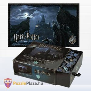 1000 darabos Harry Potter puzzle - Dementorok Roxfortban (Hogwartz) kirakott képe és doboza kinyitva