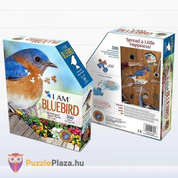 300 darabos különleges kékmadár puzzle doboza előről és hátulról - Wow Toys