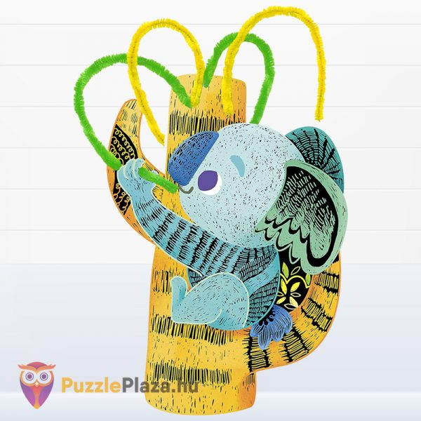 Avenir képkarctechnika: Fuzzy koalák és kengurúk kreatív játék elkészítve