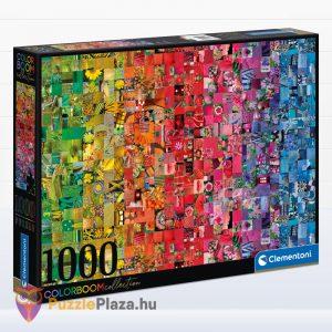 1000 darabos kollázs puzzle, a ColorBoom Collection egyik tagja. Clementoni 39595