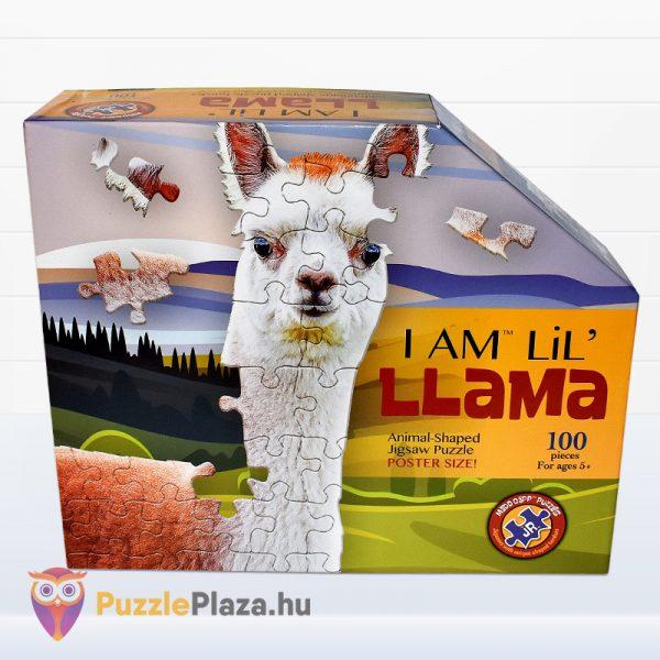 100 darabos poszter méretű láma forma puzzle doboza előről. Wow Toys